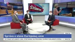 ŠTÚDIO TA3: E. Jurzyca a M. Šimečka o prejave predsedníčky EK