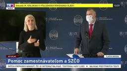 TB M. Krajniaka po rokovaní vlády o pomoci zamestnávateľom a SZČO
