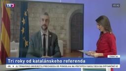 ŠTÚDIO TA3: Katalánsky minister zahraničia B. Solé o výročí nezávislosti