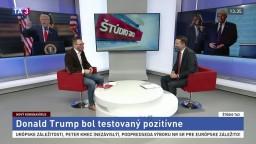 ŠTÚDIO TA3: Politológ B. Kováčik o Trumpovom pozitívnom teste