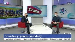 ŠTÚDIO TA3: prezident SFZ J. Kováčik o situácii v slovenskom futbale