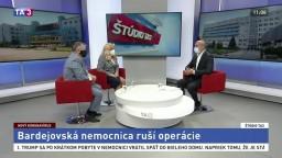 ŠTÚDIO TA3: M. Petko a M. Lévyová o situácii v bardejovskej nemocnici