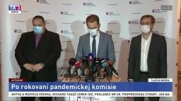 TB I. Matoviča, M. Krajčího a J. Mikasa po rokovaní pandemickej komisie