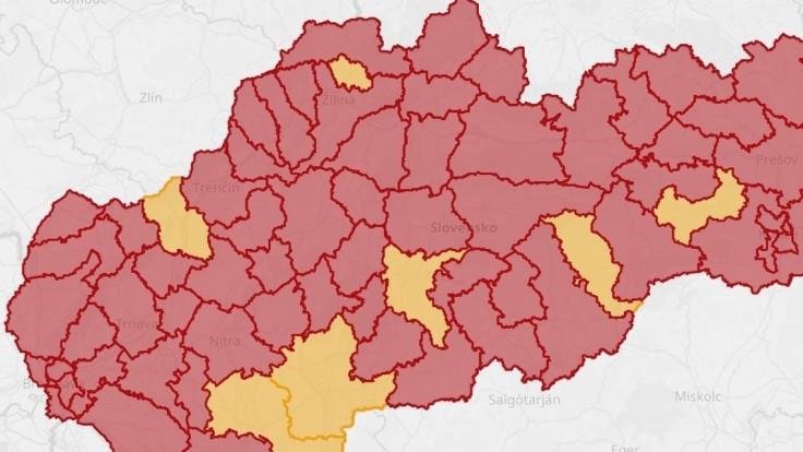 Nemáme už ani jeden bezpečný región, Slovensko je červené