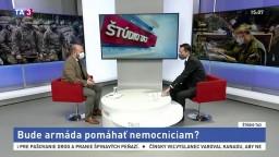 ŠTÚDIO TA3: Minister obrany J. Naď o armáde nasadenej do boja s vírusom