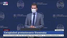 TB premiéra I. Matoviča o celoplošnom pretestovaní Slovenska