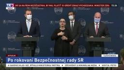 TB po rokovaní bezpečnostnej rady o celoplošnom testovaní