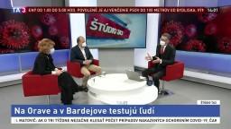 ŠTÚDIO TA3: M. Lapuníková a R. Rybníček o pripravenosti na testovanie