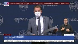 TB premiéra I. Matoviča o pilotnom testovaní na Orave a v Bardejove