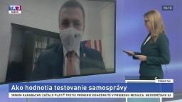 ŠTÚDIO TA3: M. Kaliňák a J. Prílepok o názore samospráv na testovanie
