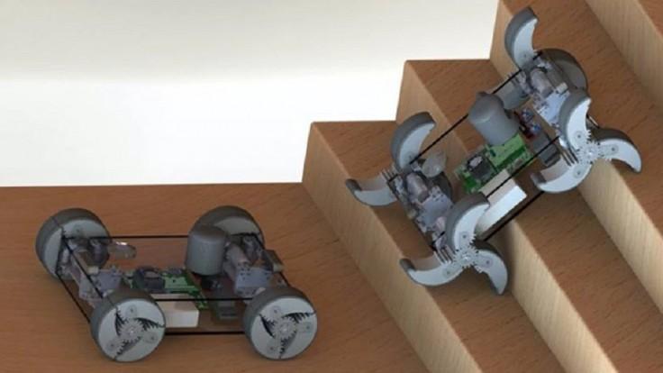 Robot α-WaLTR má kolesá, ktoré sa dokážu rozložiť na nohy