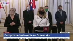 TB prezidentky Z. Čaputovej po rokovaní s expertmi v súvislosti s testovaním
