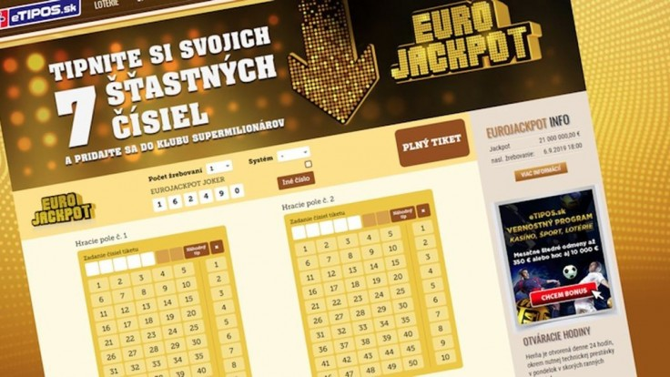 V Eurojackpote uspeli Slováci aj so stávkami z pohodlia domova