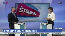 ŠTÚDIO TA3: Matematik I. Bošňák o prognózach rastu hospitalizácie