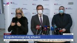 TB ministra M. Krajčího o epidemiologickej situácii a plošnom testovaní