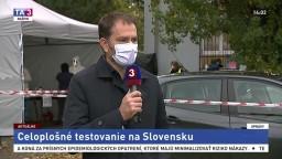 Premiér I. Matovič a minister R. Mikulec aj o testovaní v Rači