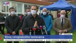 TB premiéra I. Matoviča a predstaviteľov vlády o vývoji testovania
