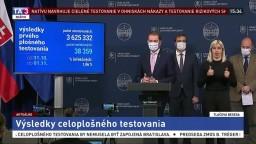 TB predsedu vlády I. Matoviča a ministrov o výsledkoch testovania