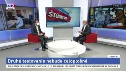 ŠTÚDIO TA3: Minister M. Krajčí o druhom kole testovania