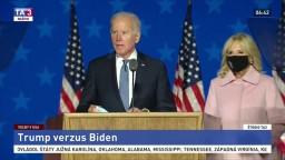 Vyhlásenie J. Bidena k predbežným výsledkom prezidentských volieb v USA