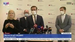 TB premiéra I. Matoviča a ministra M. Krajčího o pandemickej situácii