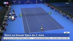 Klein ide do 2. kola, na Slovak Open postúpil bez straty podania