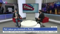ŠTÚDIO TA3: Odborník na francúzsku politickú scénu P. Jusko o útokoch v Paríži