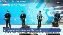 TB I. Matoviča, E. Hegera a predstaviteľov Volkswagenu o významnej investícii