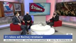 ŠTÚDIO TA3 s tvárami nežnej revolúcie, J. Budajom a M. Kňažkom