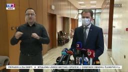 TB I. Matoviča o nákupe antigénových testov i protestoch 17. novembra