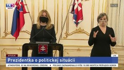 TB prezidentky Z. Čaputovej o sporoch v koalícii a koronakríze