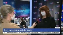 Predsedníčka ZZŠS Z. Petáková o testovaní i návrate detí do škôl