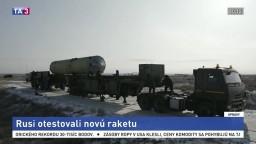 Rusko testuje novú raketu určenú pre systém protiraketovej obrany