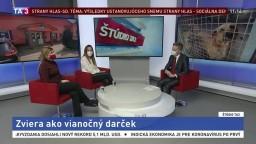 ŠTÚDIO TA3: P. Dugovičová a S. Čaňová o darovaní zvierat na Vianoce