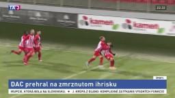 DAC premrhal šancu dostať sa na čelo, Nitra je bez trénera