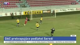 DAC prekvapivo podľahol Seredi, Slovan v tabuľke naďalej vedie