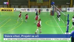 Volejbalistky Slávie pokračovali bez prehry, zdolali Projekt RD