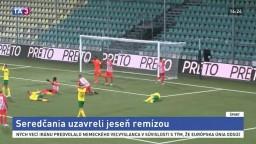 Seredskí futbalisti uzavreli jeseň remízou na trávniku Žiliny