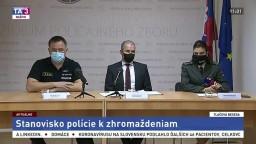 TB predstaviteľov policajného zboru o protestoch proti opatreniam