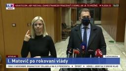 TB premiéra I. Matoviča po rokovaní vlády o zákaze vychádzania