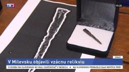 V Milevsku našli relikviu. Pravdepodobne ide o klinec z Pravého kríža
