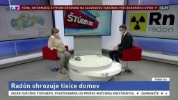 ŠTÚDIO TA3: M. Vičanová o radóne ohrozujúcom tisíce domov