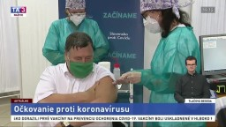 TB Ministra zdravotníctva M. Krajčího o začiatku očkovania v SR