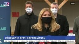 TB prezidentky Z. Čaputovej o očkovaní na Slovensku