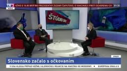 ŠTÚDIO TA3: V. Krčméry a F. Čiampor o očkovaní na Slovensku