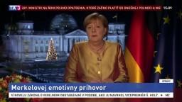 Merkelová mala posledný silvestrovský príhovor. Hovorila aj o koronavíruse