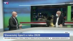 ŠTÚDIO TA3: Prezident SOŠV A. Siekel o slovenskom športe v roku 2020