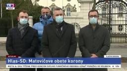 TB strany Hlas-SD aj o trestnom oznámení na premiéra Matoviča