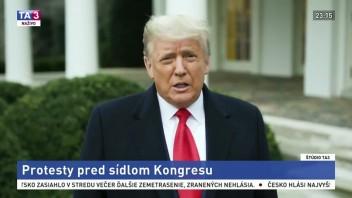 Vyjadrenie D. Trumpa k udalostiam vo Washingtone