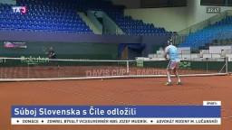 Pre nepriaznivú situáciu odložili tenisový súboj Slovenska a Čile